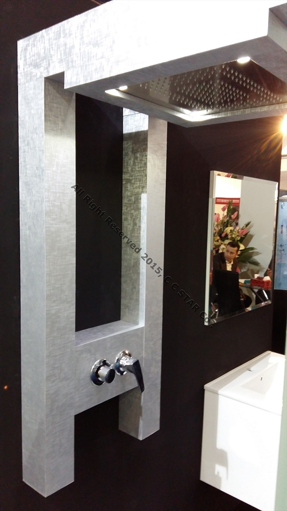 Use of Charmineh Choob Star leather covered sheet in manufacturing bath cabin shower