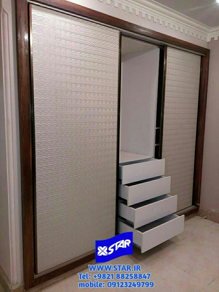 Use of Charmineh Choob Star leather covered sheet in closet door