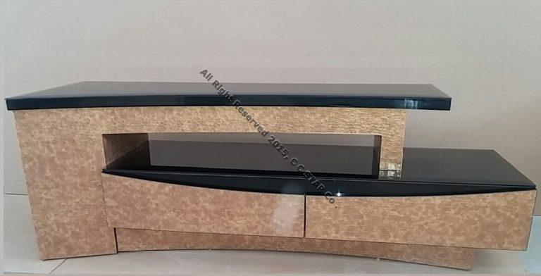 میز ال سی دی ساخته شده از ورق روکش چرم چرمینه چوب استار