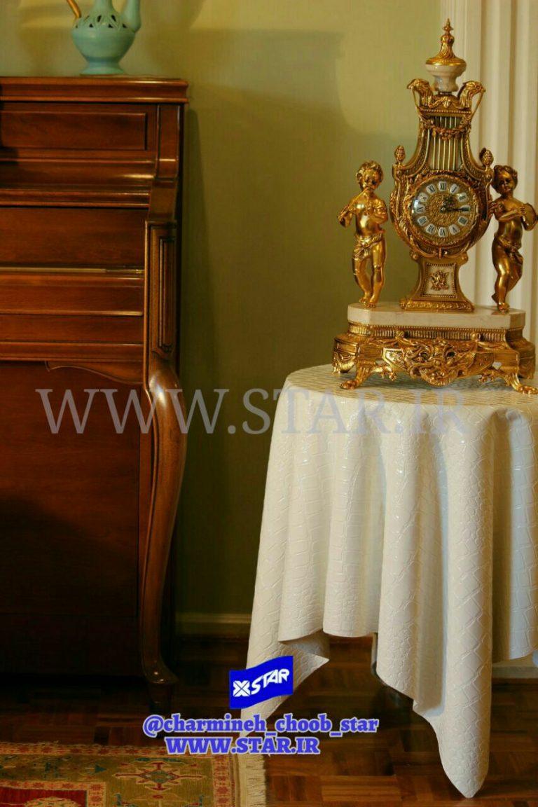 میز عسلی چرمی بدون پایه ، محصول چرمینه چوب استار