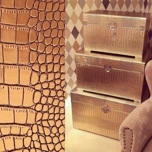 صندوقهای تزیینی ساخته شده از ورق روکش چرم
