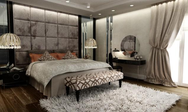 استفاده از دیوارپوشهای چرمی در اتاق خواب